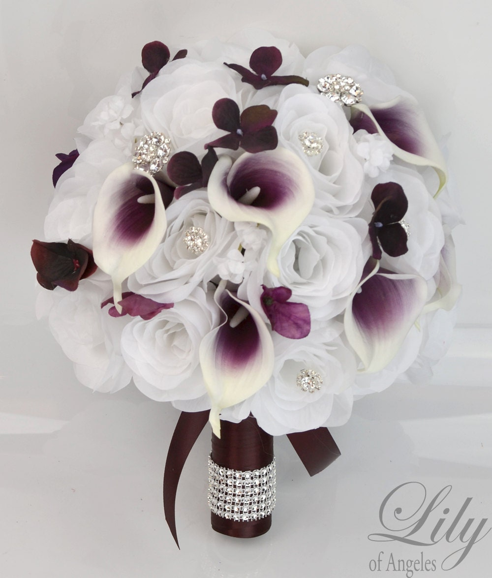 Wedding bridal bouquet 17 piece package bouquet silk flowers zoom izmirmasajfo Image collections