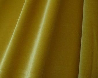 Golden Four Way Stretch Velvet Fabric