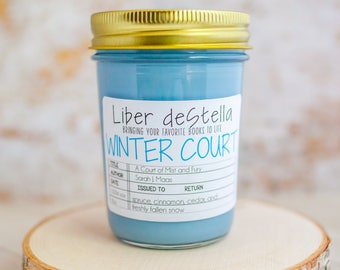 Winter Court - A Court of Mist and Fury Inspired Candle - Book Candle - Book Gift - Book Lover - Bookish