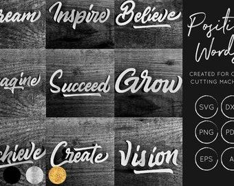 Positive Words SVG Bundle