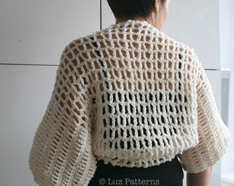 Crochet pattern, Vintage Shrug crochet pattern vintage women and girl crochet pattern (72) INSTANT DOWNLOAD