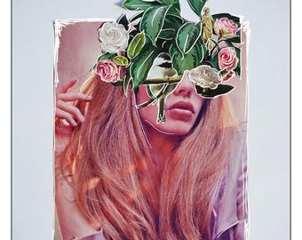 Alex | original collage art print
