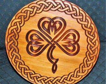Shamrock plaque;Irish Shamrock plaque;Ireland gift;Luck of the Irish symbol