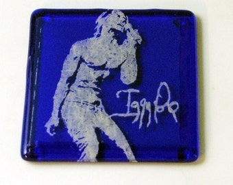 Iggy Pop Fused Glass Coaster