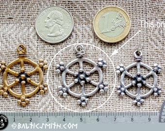 Old Prussian (Baltic) Sun charm in sterling silver (updated)