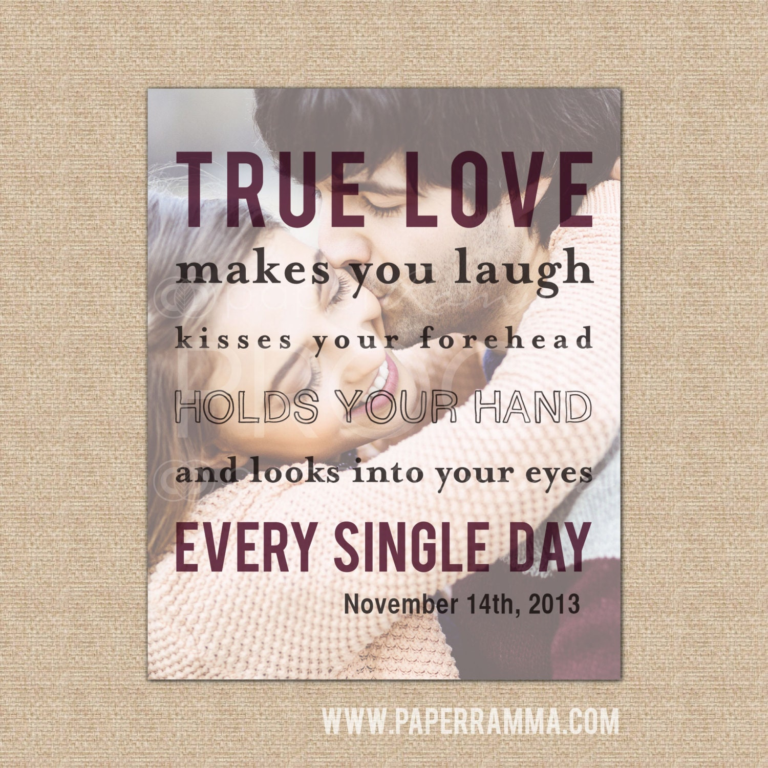 Love Quotes On Canvas True Love Quote Art Soulmates Quote Anniversary Gift