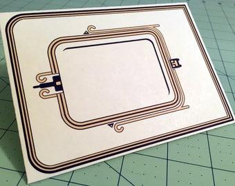 Four Art Deco Vintage Frame Envelopes for you to print