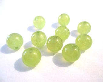 10 pearls jade natural clear 8mm (42)