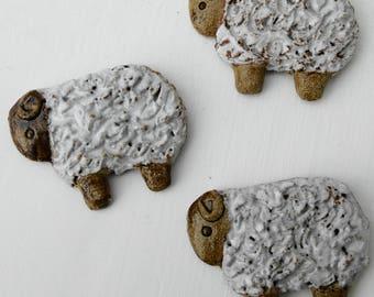 Three sheep fridge magnets