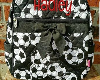 Personalized Soccer Quilted Backpack