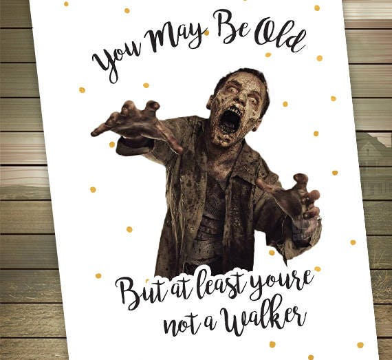 The walking dead birthday card walker zombies happy like this item m4hsunfo