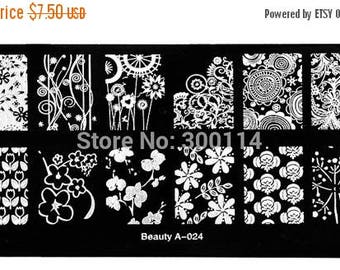2016 NEW, nail stamping plate,  beauty 24  Nail Art