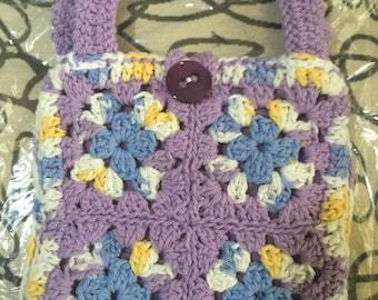 Crocheted Granny Square Purse #103