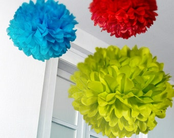 Tissue Paper Pom Poms Set of 3
