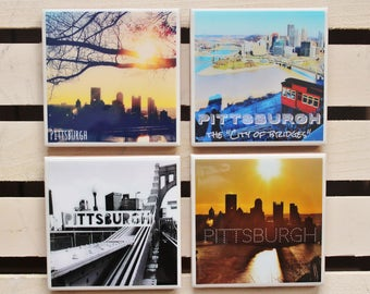 Pittsburgh photo coasters | Pittsburgh photography | Pittsburgh souvenirs