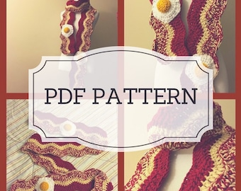 PDF PATTERN bacon and eggs scarf