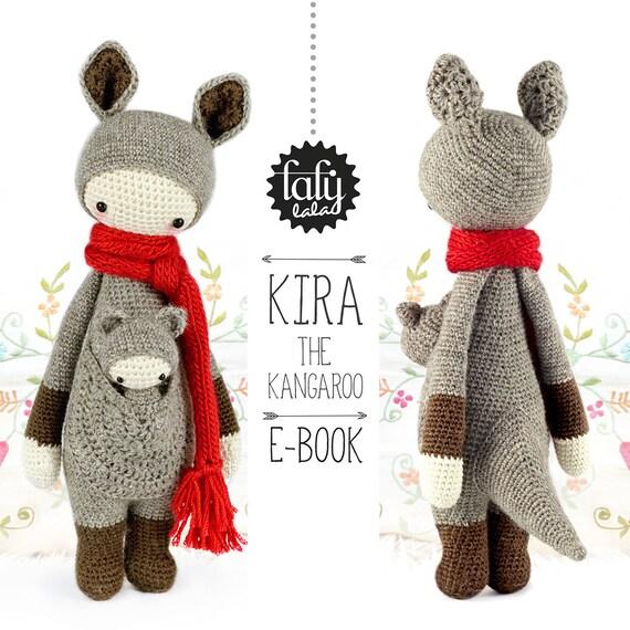 Canguro KIRA lalylala patrón de crochet / amigurumi