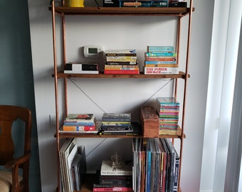 Copper and wood shelving