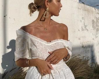 ZARA INSPIRED Golden  Raised Design Earrings