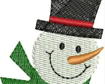 INSTANT DOWNLOAD Mini snowmen embroidery designs