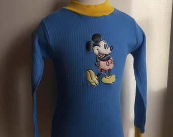 Vintage Disney Mickey Mouse Blue Shirt Sz 18-24M