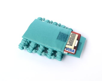 Bracelet Secret wallet . Wide bracelet turquoise color . Bracelet for money , bracelet purse , money cuff bracelet . Wrist Wallet