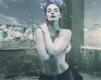 Beautiful blue flower crown