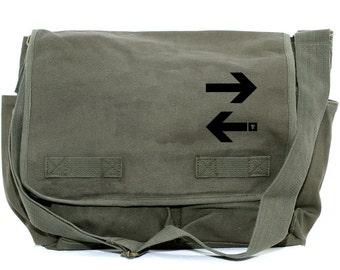 Messenger Bag | Subway ARROWS | Gift for Men | Camera Bag | Diaper Bag | Travel | Large | New York Gift | Commuter | Gift for Women