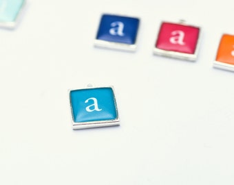 Square Letter Charm | Initial Charm | Bracelet Add-on | Colorful Add-on | Personalized Piece | Custom Necklace Charm | Holiday Gift