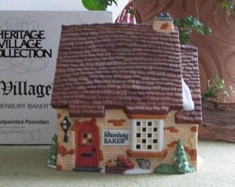 Dickens's Village Series Wrenbury Baker Shop Hand Painted Porcelain Lighted Shop Depart. 56 Retired 1995-1998