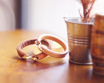 Myrrh leather | Vegetable tanned leather bracelet | Accessory | Minimalism