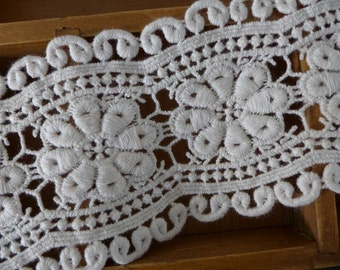 Retro Cotton Lace, Ivory Coton Lace Fabric, Hollow Out Flower Trims,  Wedding Accessory Costume Supplies