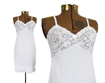 60s Slip Vintage Slip Vintage Slip Dress 60s Lingerie Full Slip Vintage Bride Vintage Bridal Lingerie Pin Up Lingerie White Lace Lingerie