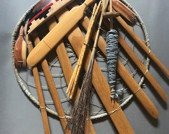 Vintage Navajo Weaving Tools Dennis Harvey arts and crafts