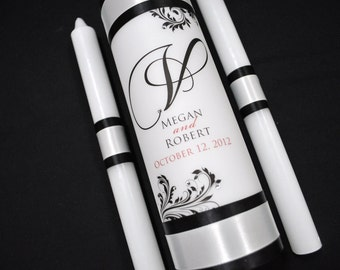 Monogram Unity Candle - Wedding Candle - Personalized Wedding Candle - Candles