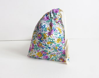 Tiny Liberty lawn 'Claire Aude X' Drawstring Bag