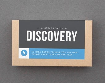 "Small, Cute Gift for Her, Him, Woman, Man, Daughter, Sister, Coworker. Cheap Under 20. Happy, Fun, Funny, Experience. ""Discover Box"" (L5DIS)"
