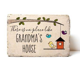 Custom Garden Stone. 6x9 Personalized Outdoor Decor. Rustic tumbled concrete paver. Garden Sign. Grandma's Garden. Mothers Day. Birthday