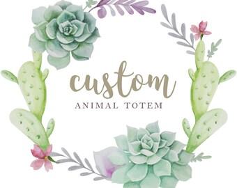 Custom Spirit Animal Totem Polymer Clay Figurine