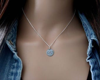 Braille Love Necklace - 925 Sterling Silver - Love Jewelry - Braille Love Charm - Love Pendant Silver