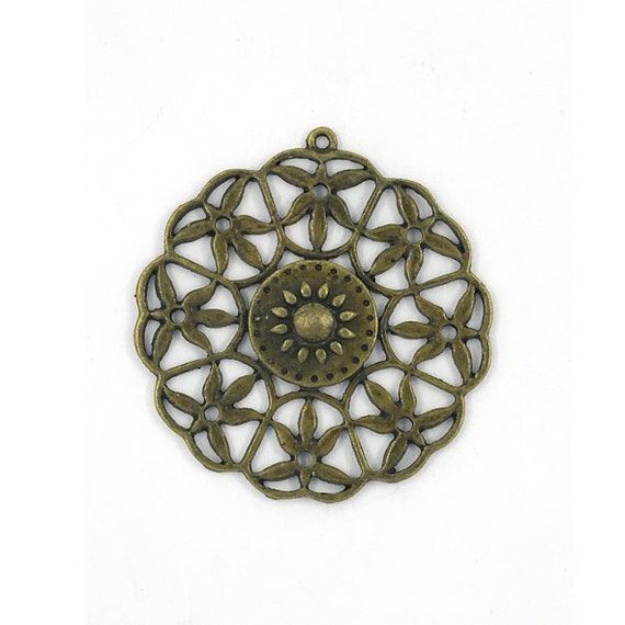 "Great charm - bronze ""Rosette"""