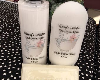 Homemade Goat Milk and Honey Lotion and Soaps