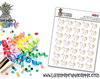 Unicorn Planner Stickers   Repositionable Matte Stickers   MD3