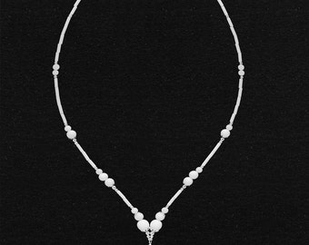 Necklace white Onyx