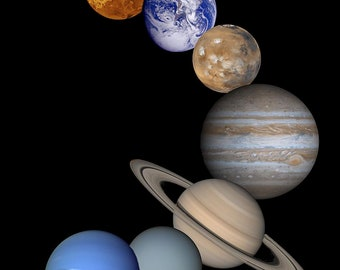 8 Planets PNG File Solar System