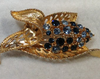 Blue Lisner Brooch