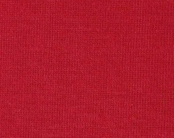 """1/2 YARD, SWEATER KNIT, Soft Solid Red, 40"""" Wide Fashion or Craft Fabric, Light-Medium Wt Cotton Polyester, B23"""