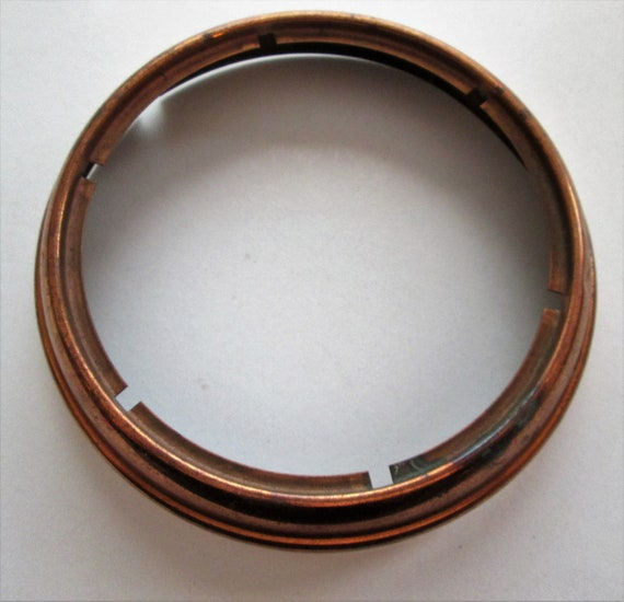 "1 Old Solid Copper Clock Bezel Fits a 5 1/2"" Clock Dial for your Clock Projects - Metalworking"