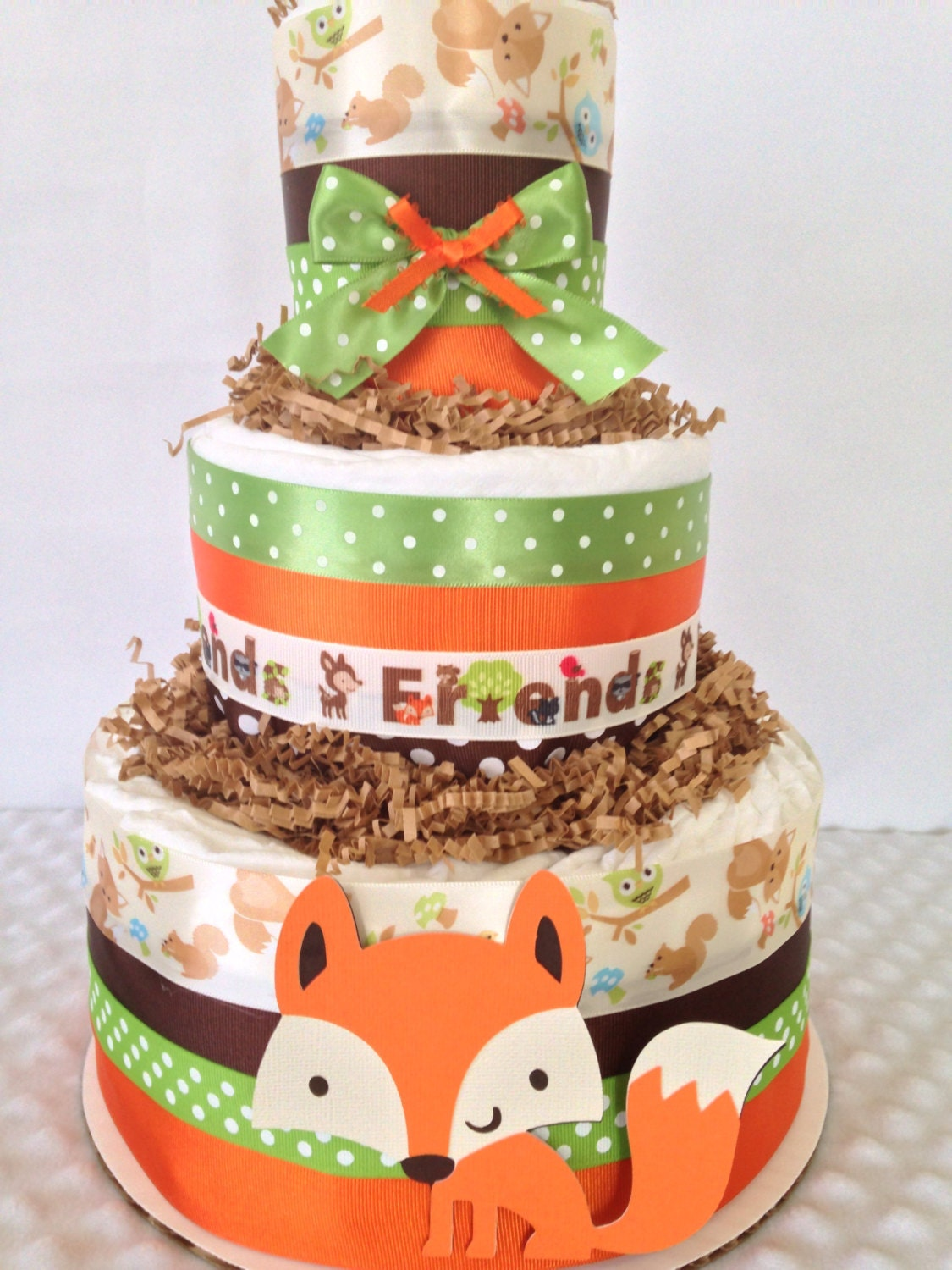woodland themed baby shower cake forest friends woodland cake fox theme baby shower 1496