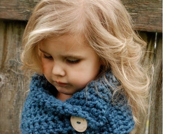 Crochet PATTERN-The Tuscyn Cowl (Toddler, Child, Adult sizes)